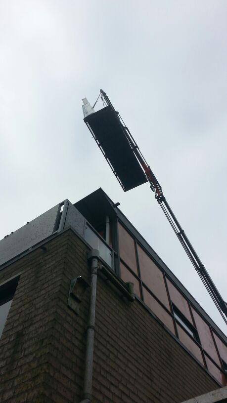 Knipping hefschuifpui gemonteerd in Utrecht!